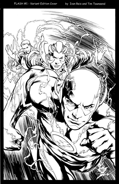 Flash 1 variant cover by Ivan Reis and Tim Townsend