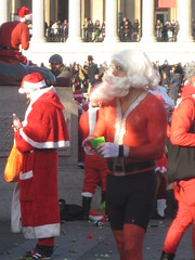 This Santa must have been freezing - Santcon 2011 - Trafalgar Square