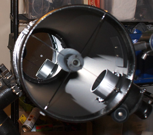 Interior of SkyWatcher Explorer 200 telescope