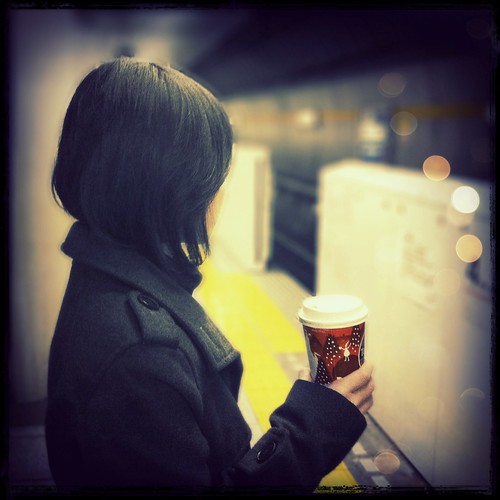 coffee in her hand