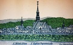 Montréal XVIIIè siècle. Église Notre-Dame.