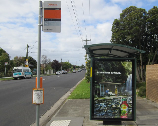 Bus stop on a bus stop