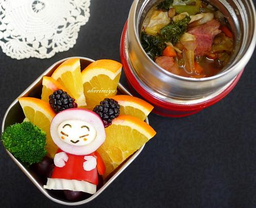 Santa Pucca Portuguese Bean Soup Bento by sherimiya ♥