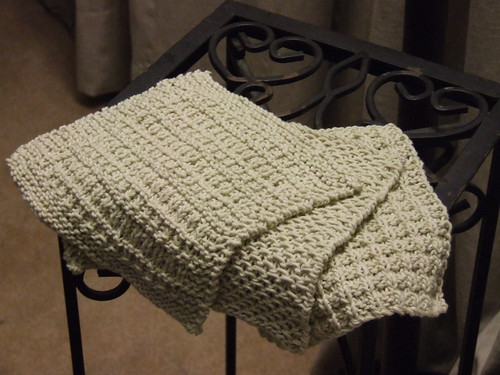 Hand-knitted dishcloths