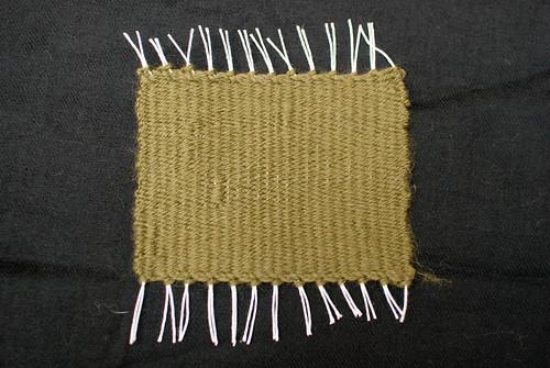 Off loom having lost a warp thread