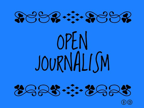 Buzzword Bingo: Open Journalism recognizes what's newsworthy runs along a two-way street #buzzwordbingo #socialweb