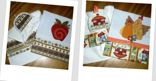 Panos de copa e  toalhas de mão by fatimalt