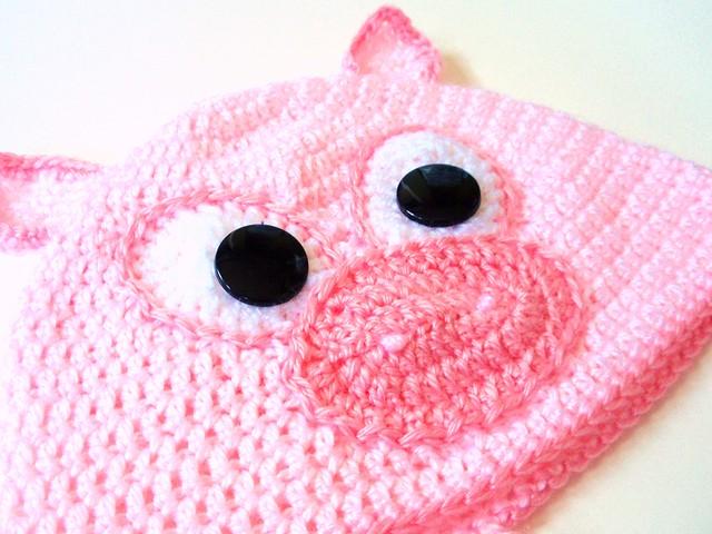 Crochet Pattern Pig Hat : Crochet Pig Hat Explore jennlikesyarns photos on Flickr ...