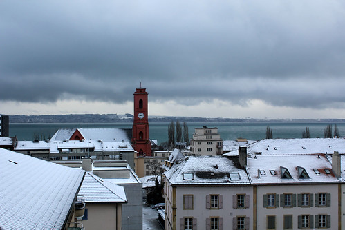snow in neuchatel!