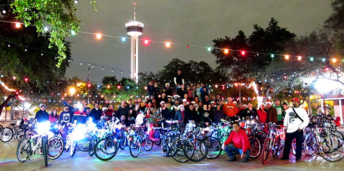 SALSA's Christmas Light Bike Ride 2011.