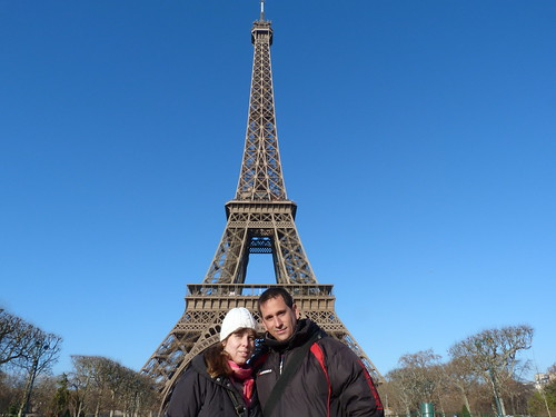 Rebeca y yo en la Torre Eiffel de París