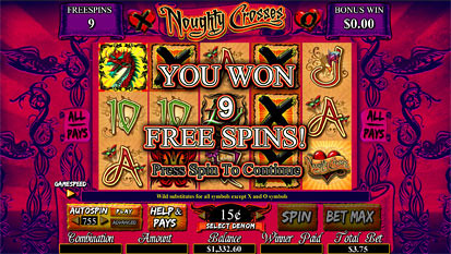 Noughty Crosses free spins