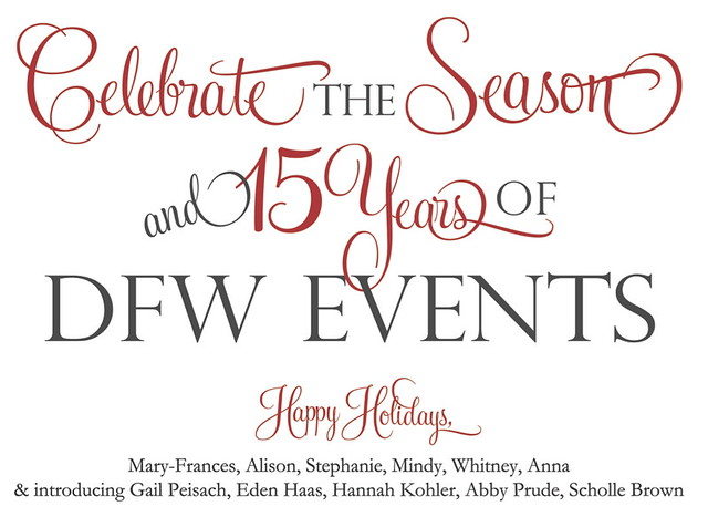 Happy Holidays From Dfw Events