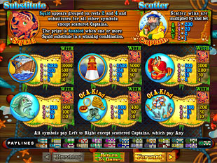 Sea Captain Slots Payout