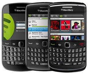 Spotify BlackBerry