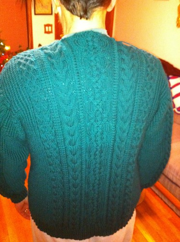 Back of Ingvold, just collar left to knit! by BlueDragon2