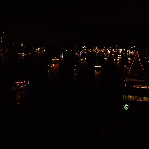Christmas boats at Portage Bay