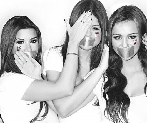 Demi Lovato, Selena Gomez & Miley Cyrus