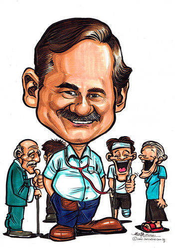 Caricature for Khoo Teck Puat Hospital - 3