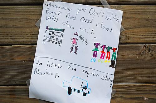 Note to Santa Sarah 2011