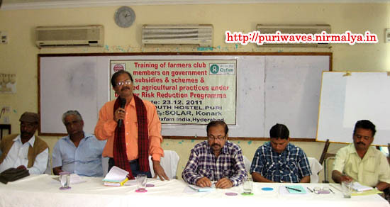 Agricultural Practises under Disaster Risk Reduction Programme held at Puri Youth Hostel