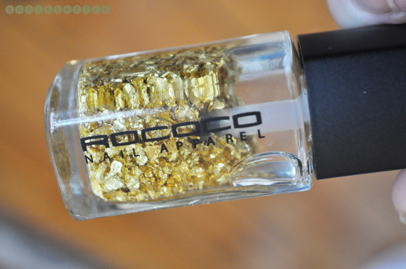 christmas presents 2011 rococo 24k gold leaf nail polish 01