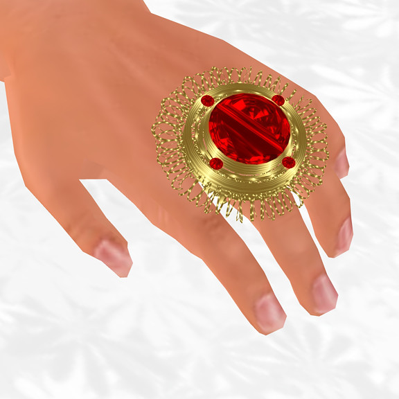 FineSmith Gold&Red Hunt Item 9 Alexandra Ring