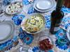 antipasti e tavola fiorita