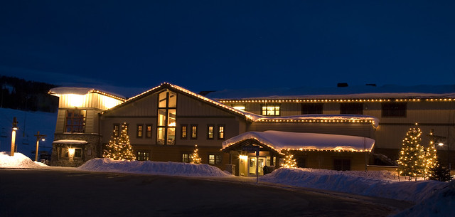 SolVista Base Camp Lodge lit up for Winter Wonderland Courtesy of Granby Ranch