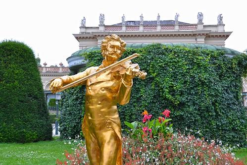 Monumento a Johann Strauss en Stadtpark
