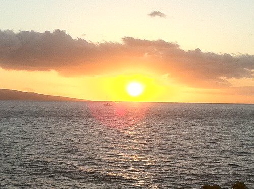 Wailea walk sunset