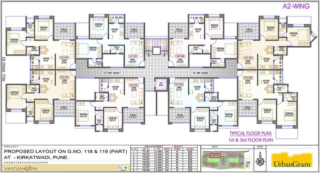 A2 1st & 3nd Floor - 2 BHK Flat for Rs. 25 Lakhs at Urbangram Kirkatwadi on Sinhagad Road Pune 411 024