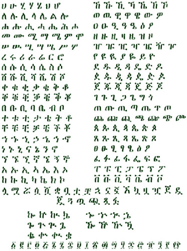 Ethiopian Alphabet How Many Letters