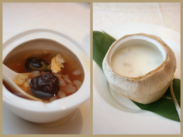 Peach Blossoms hashima desserts - hot and cold