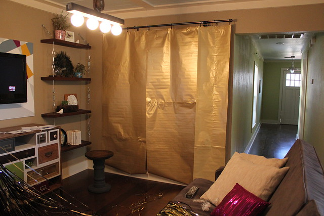 curtain rod for your party depending on the location of your back drop