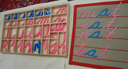 Movable Alphabet Words (Photo from To the Lesson!)
