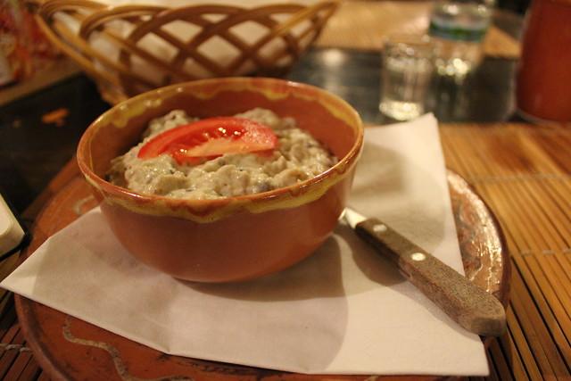 Salat? de vinete en el Restaurante Casa Ardeleana
