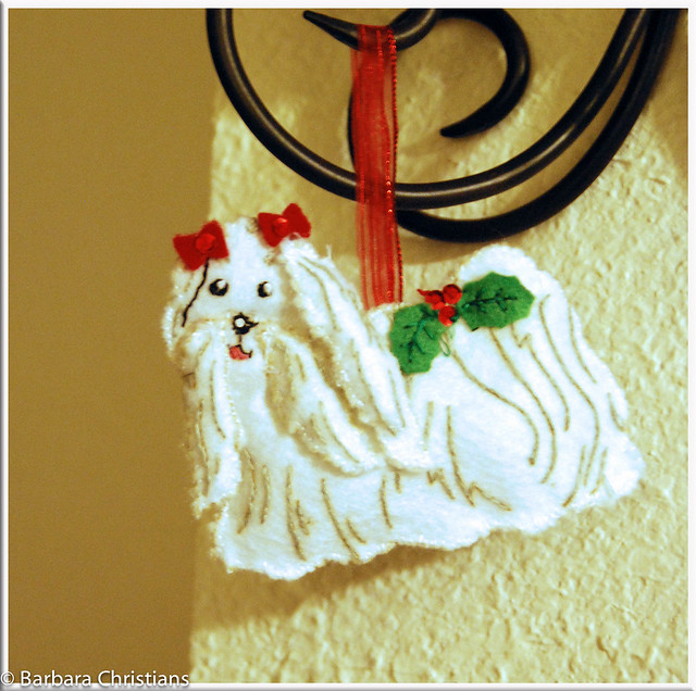 1-2-12 Dog Ornament