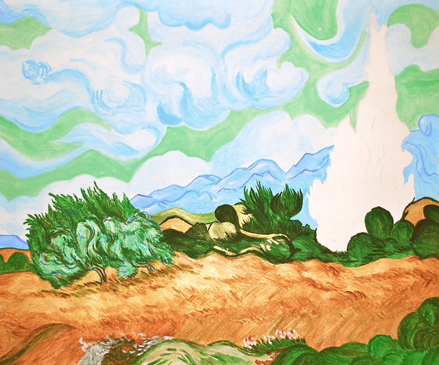 Wheatfield with Cypresses (1 January 2012)