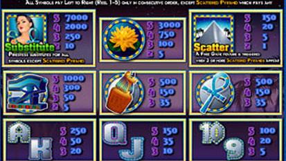 free Platinum Pyramid slot mini symbol