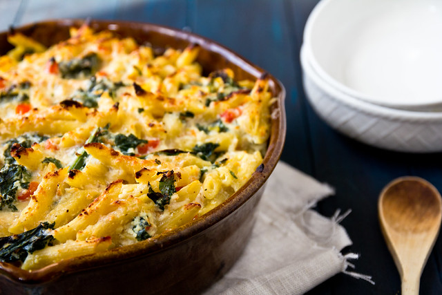 Baked Penne with Chicken and Kale