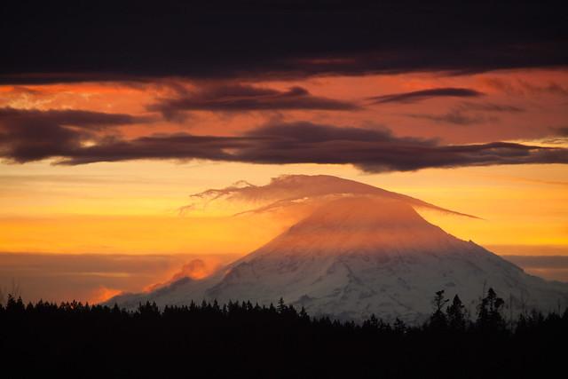 Mt. Rainier Dawn View From Bainbridge Island