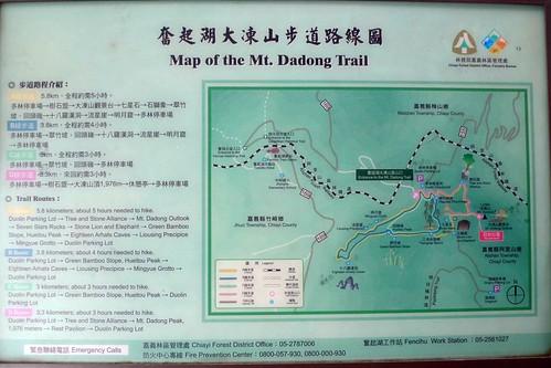 Map -  Dadongshan Trail - Fenqihu, Taiwan