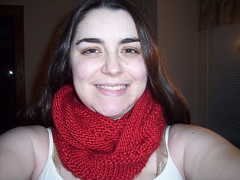 Christmas Cowl wrapped