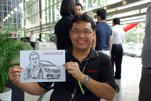 Caricature live sketching for Tan Chong Nissan Almera Soft Launch - Day 1 - 9