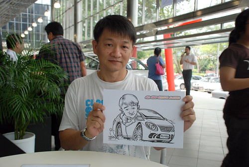 Caricature live sketching for Tan Chong Nissan Almera Soft Launch - Day 1 - 24