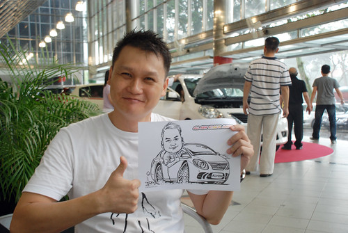 Caricature live sketching for Tan Chong Nissan Almera Soft Launch - Day 1 - 36