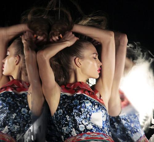 Mary Katrantzou x topshop modeled by Karlie Kloss for SHOWstudio: NEWGEN//TEN 2012