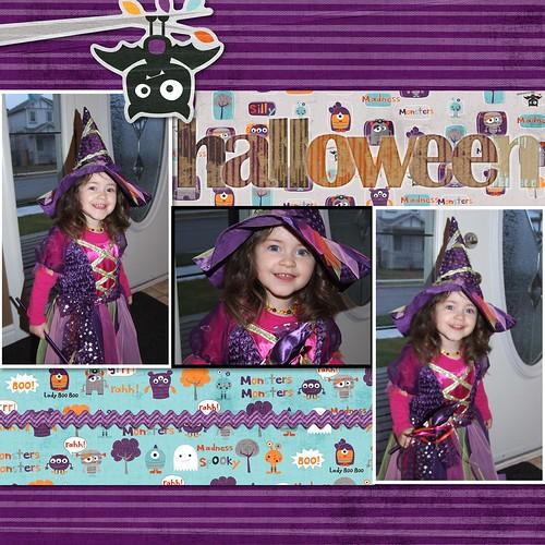 2009 Scrapbook - Halloween Pg 1