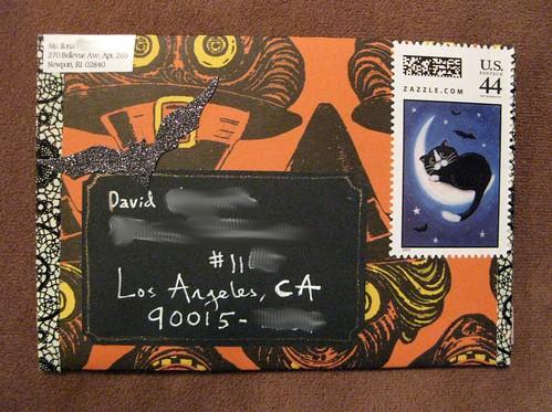 Handmade Halloween envelope